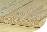 NatureWood deck boards bark side up